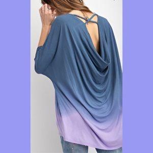 Ombré Dye Tunics Blue & Lavender S or M